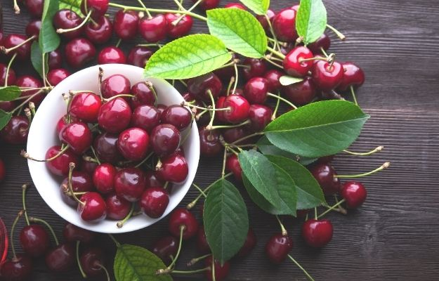Fresh cherries in bowl on table | Adjust Your Diet | How Can I Clean My Lungs? | Lung Detox