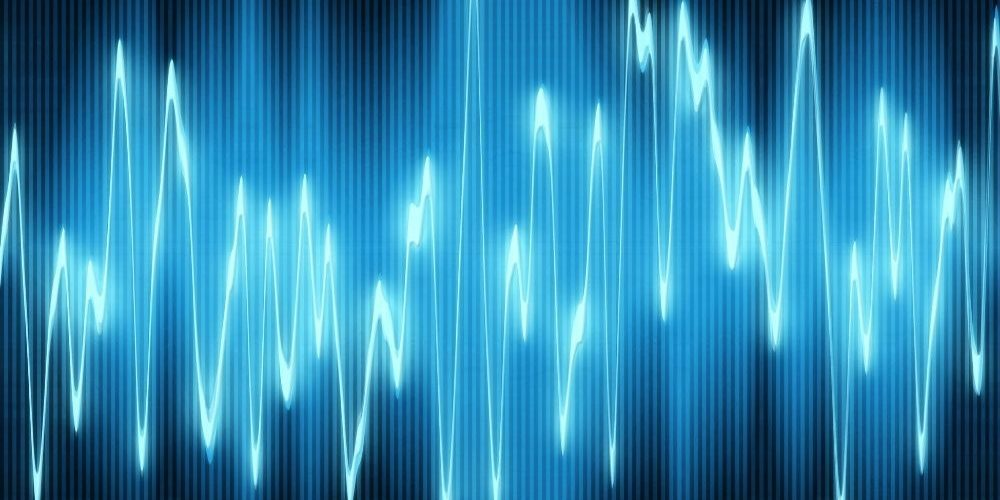 medical sound wave visualization in blue | feature | What is Acoustic Epidemiology? | The Future Of AI Diagnostics