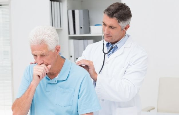 a man is having a doctor check | Chronic Cough Treatment Options | Chronic Cough Causes and Treatments (Primary Care RAP Podcast)