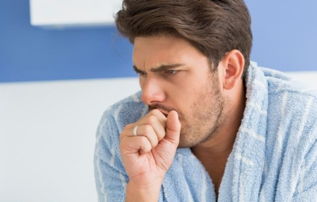 a man wearing pajama is coughing | Chronic Cough Definition and Causes | Chronic Cough Causes and Treatments (Primary Care RAP Podcast)