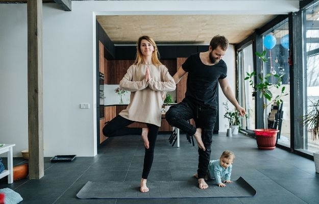 Family doing yoga - ss | How To Identify Trends and the Good and Bad Habits In Your Life | Tips for Developing Good Habits