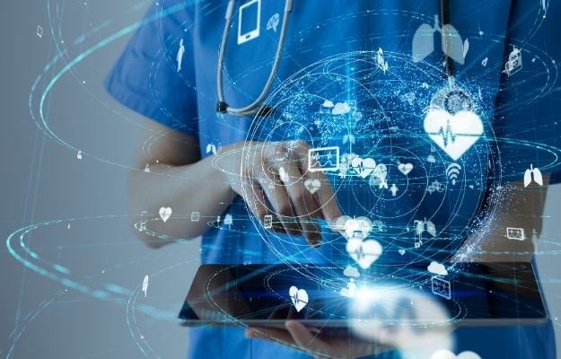 someone is holding a tablet with medical icons around | What if We Had AI Diagnostic On Our Phones? | AI Diagnostics On Our Phones Could Reshape Healthcare