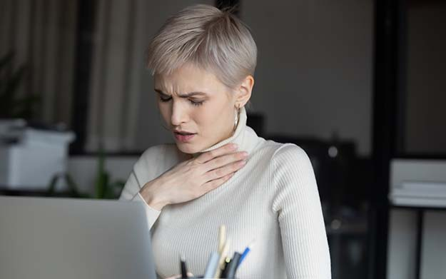 Woman having upper airway cough syndrome | What You Should Know About Upper Airway Cough Syndrome | What Is Upper Airway Cough Syndrome?