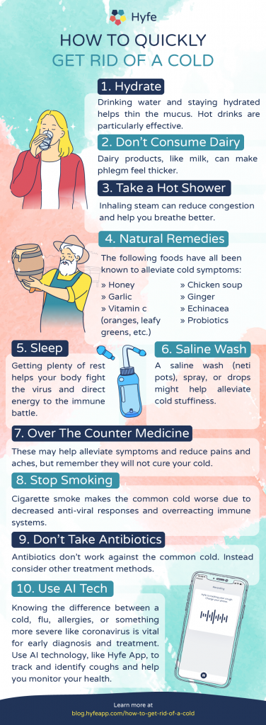 Infographic | HA_How To Get Rid of A Cold Swiftly INFOG